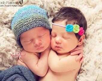Crochet PATTERN - Easy Crochet Hat Pattern - Crochet Pattern Boys - Crochet Patterns Kids - 7 Sizes Newborn to Adult Large - PDF 202