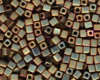 Miyuki 4mm Cube Beads - 7 grams - Choice of 4 Colors
