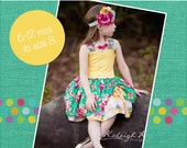 Poppy's Peekaboo Dress PDF Pattern sizes 6/12 mos to 8 girls