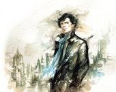 BBC sherlock - watercolor -