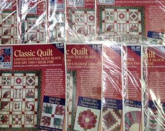 Joanns Classic Quilt Block of the Month 1998 - Includes 10 months