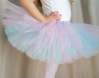 Aqua and Pink Tutu | Aqua Tutu | Pink Tutu | Birthday Tutu | Party Tutu | Girls Tutu Skirt