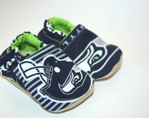 Seattle seahawks baby shoes sports baby shoes crib shoes baby booties baby slippers indoor shoes/house shoes/newborn shoes 5T shoes