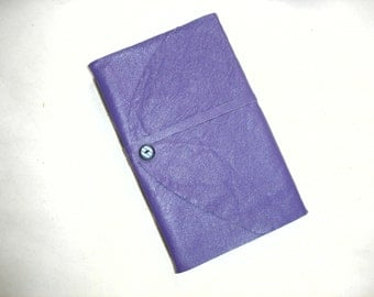 Large Leather Purple Journal-Buttons-Travel-Sketch-Gift Idea