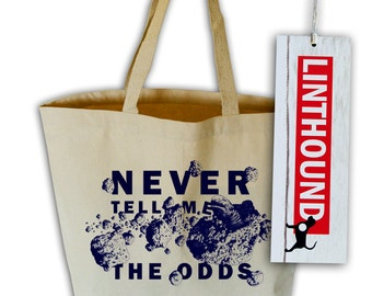 Never Tell Me The Odds Canvas Grocery Tote Bag
