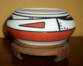 New Mexico Vintage Native American Planter/Signed/Mesa/Maack Co