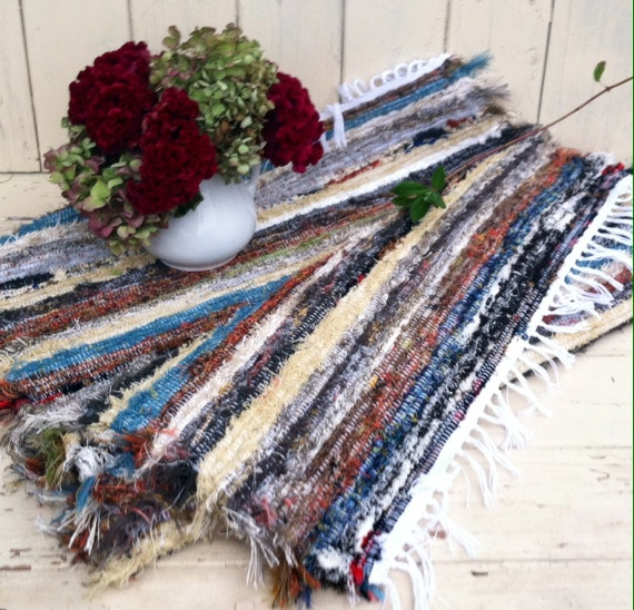 Amish Rag Rug Multi Colored Throw Rug By Happydayantiques