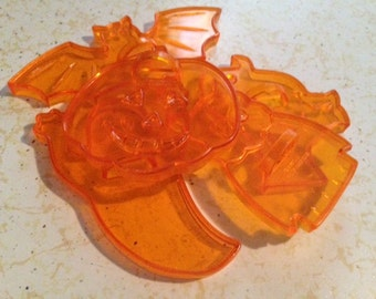 Set of 5 Vintage Clear Plastic Halloween Cookie Cutters by Amscan