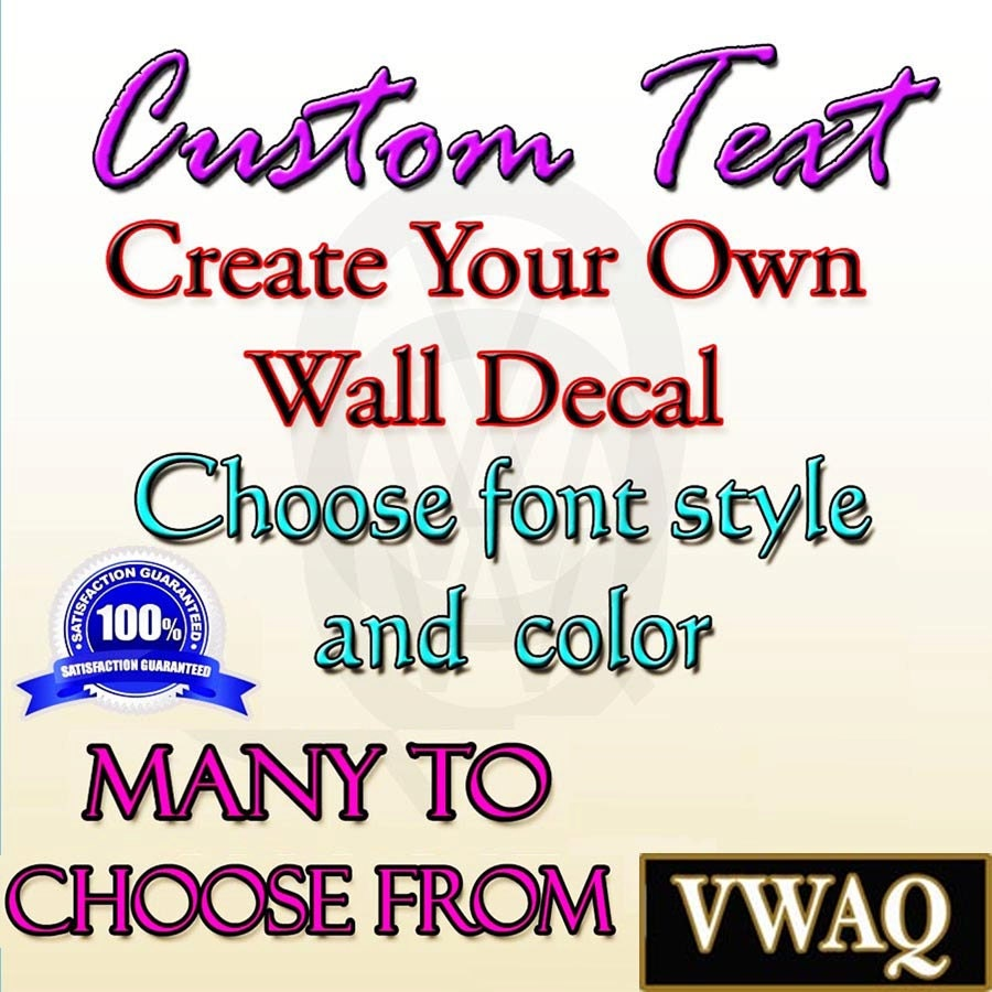 Wall Vinyl Design Your Own : Custom wall decal create your own personalize quote