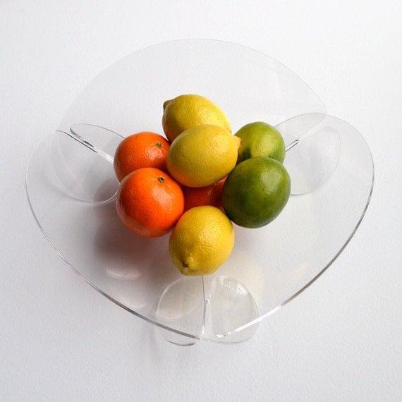 Circle Fruit Bowl Acrylic Minimalist Modern Flat Pack Fuit