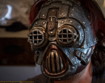 League diesel punk, steampunk, cyberpunk Latex cosplay fetish larp mask ON Sale Now!  25% off!!