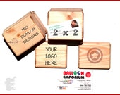 Custom 2x2 Rubber Stamp, Artwork Stamp, Stamp Logo, Company Stamp, Business Stamp, Text Only Stamp 3x2 inches Large Handmade Mount C016