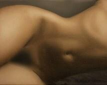 Nu 04 : Original oil figure painting  Nude of a Woman