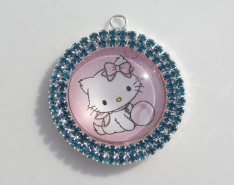 36mm, Hello Kitty  Inspired Pendant, Z15