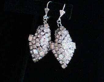 Wedding Earrings, Handmade with Vintage Jewelry, Vintage Wedding Jewelry, Bridal Earrings, Vintage Wedding Earrings, Bridesmaid Earrings