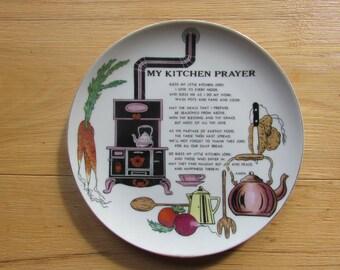 Vintage Anco Kitchen Prayer Plate