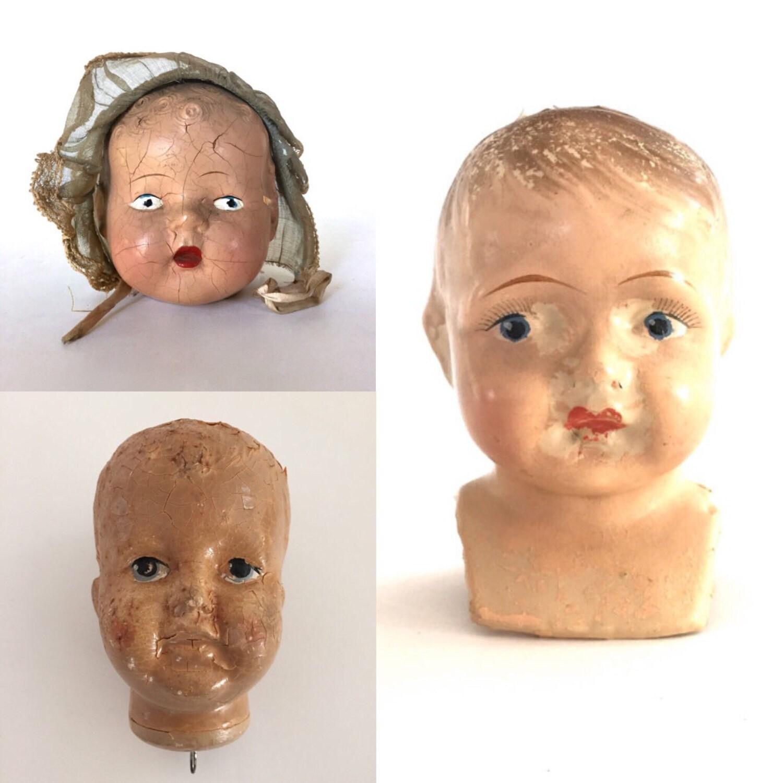 Vintage Creepy Doll Head