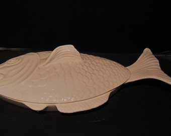Vintage Fish Platter with Lid Oven Proof