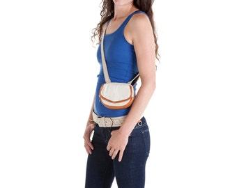 Hip Bag - Belt Bag - Hip Pack - Pocket Belt - Leather and Canvas - Utility Belt