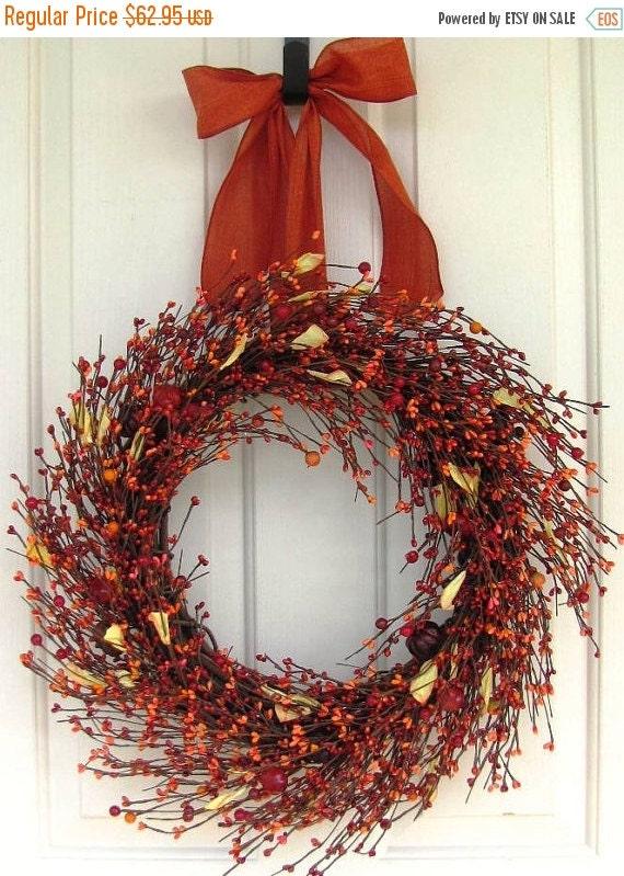 Halloween Decor Sale Primitive Fall Wreath Fall By Designawreath