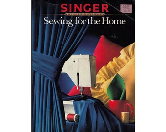 SALE! Sewing For the Home by Singer Vintage 1980s Instructions for Curtains Shades Blinds Pillows Table Decor and More