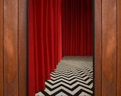 Twin Peaks Poster or Framed Print, Red Room, Black Lodge