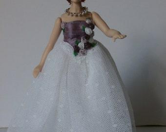 Dolls House Doll FIONA - OOAK Handmade 1/12 scale Porcelain Lady Doll