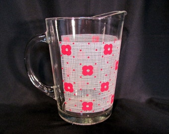 Lemonade, Iced Tea Pitcher / Red and White Ice Tea Pitcher