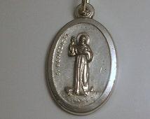 Vintage Saint Benedict of Nursia Medal