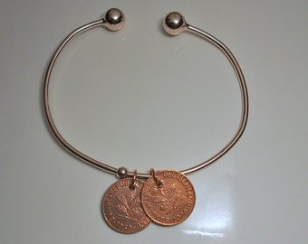 Germany Vintage Coin Bracelet 1950 1970