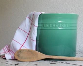 Le Creauset Stoneware Utensil Crock, 2.75 Quart, Green