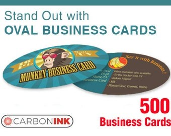 Oval business card printing 500 - Thick business cards - Printing