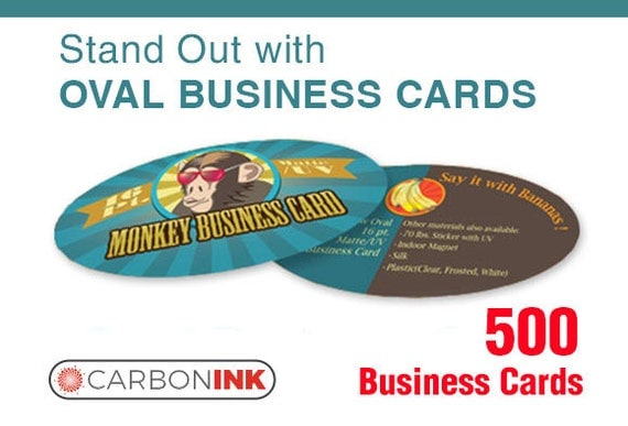 Oval business card printing 500 Thick business cards