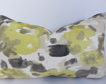 SALE 12x20 Decoratieve Pillow- Yellow - Gray- Cream- Beige- Pillow- Home Pillow- Designer Pillow- Home Decor- Art deco- Dwell Studio