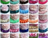 Box Pleated Grosgrain or satin  Ribbon, 7/8 inch wide  selling by the yard /select color