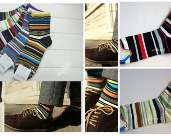 Very Beautiful Multicolour Stripes In Tube Casual Socks For men/boys price for 1 pair