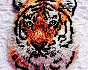 embroidered iron on applique/patch-TIGER HEAD