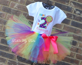 Sweet Shoppe Candy Party Birthday Tutu Outfit-Candy Party Tutu Set-Candy Party Birthday Tutu Set-First Birthday Candy Theme Outfit