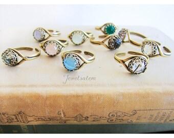 Rings, Crystal Rings, Gemstone Rings, Birthstone Rings, Bridesmaid Ring, Birthstone Jewelry, Swarovski Crystal Rings, Gift