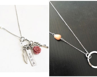 """Choose Your Chain- DAINTY charm necklace 