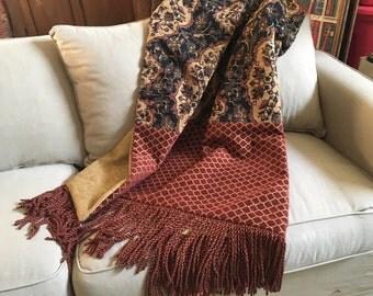 Moroccan Throw Blanket, Luxurious Bedding, Tapestry Hanging, Tribal Throws, Luxury Throw Blanket, African Design, Handmade Blankets, OOAK