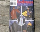 simplicity 5512 costumes for kids uncut size A 3 4 5 6 7 8 cape hat hooded cape tabard