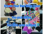 Create Your Own Bling Custom phone case - unlimited non photo charms, ONE photo limit