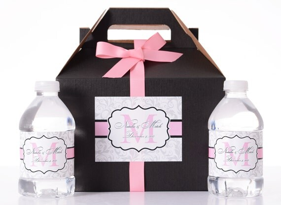 Wedding Gift Box Stickers : 30 Wedding Favor Box / Welcome Box Labels Gable Wedding Box Set with ...