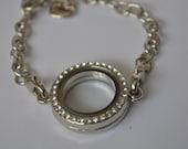 Floating living memory locket bracelet