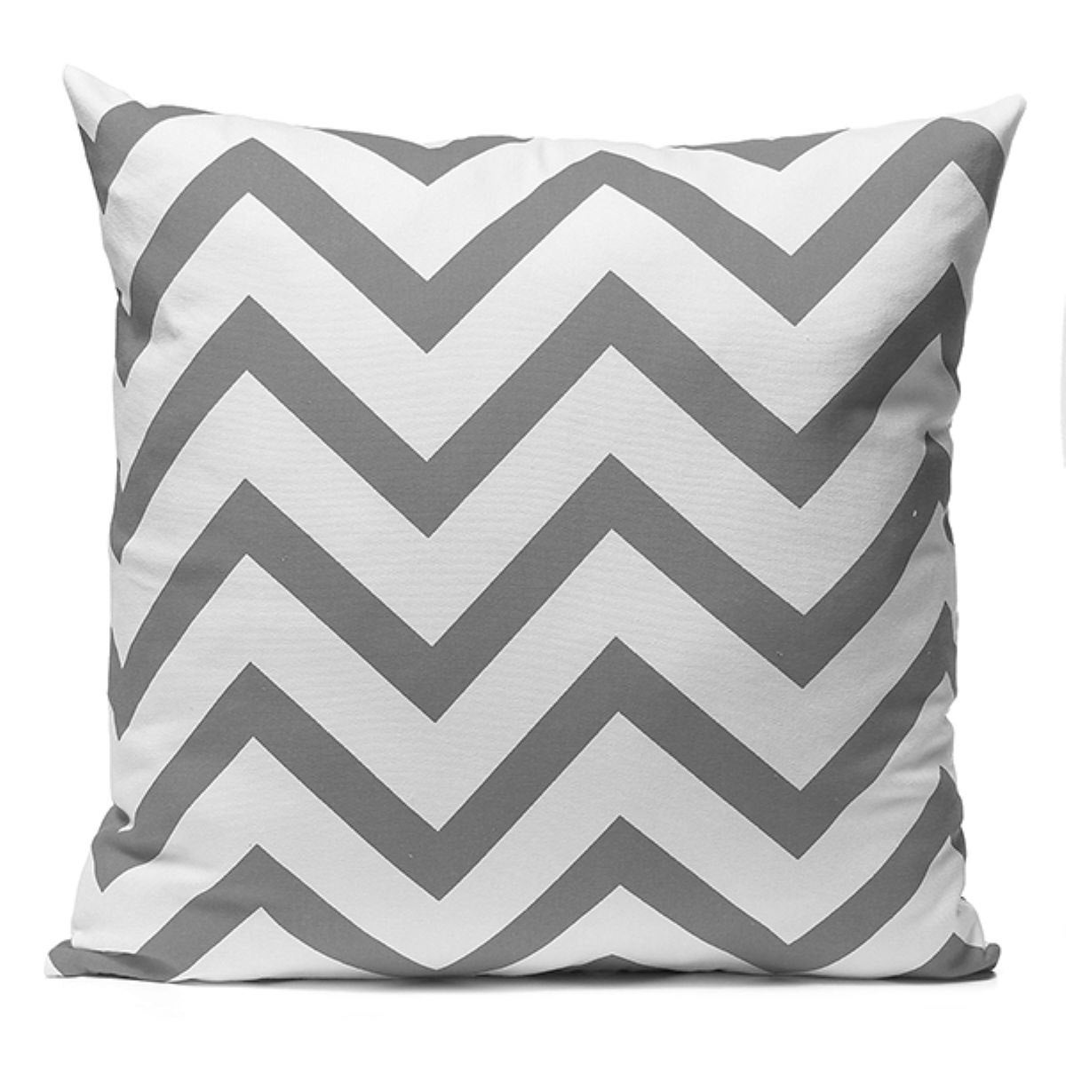 Chevron Grey and White Throw Pillow Cover Sofa Bed Home