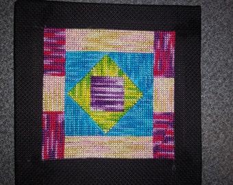 Cross stitch wall hanging