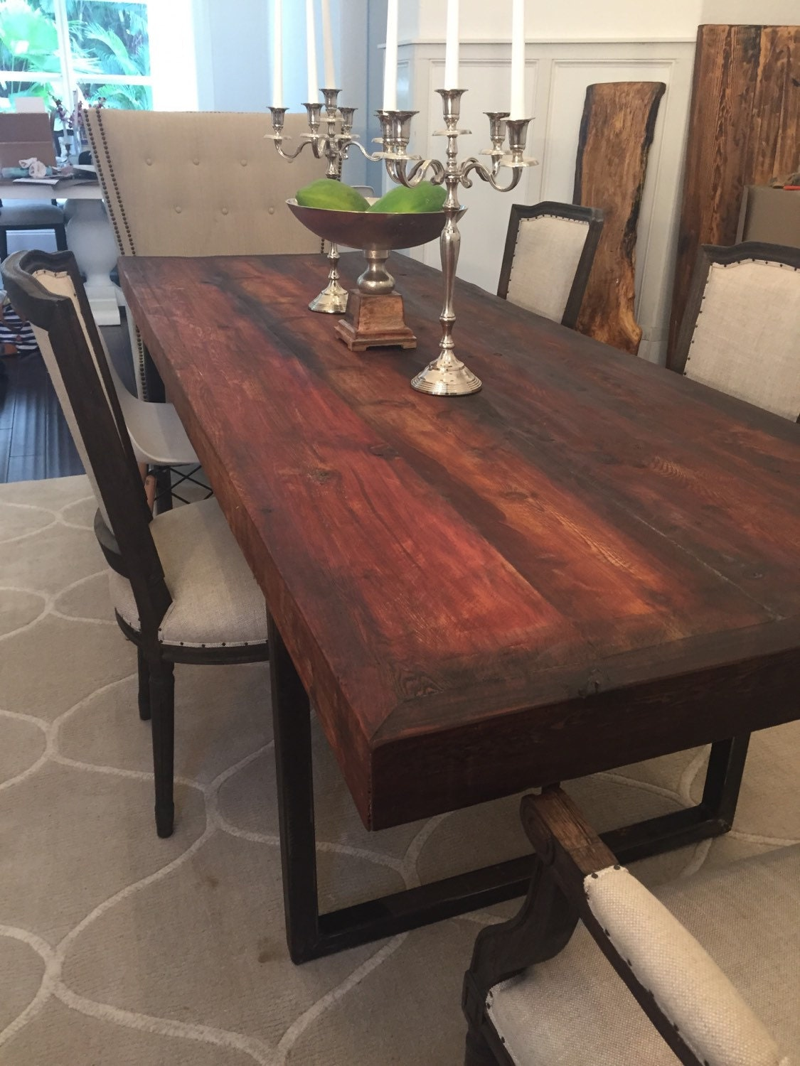 Sale Rustic Reclaimed Cedar Dining Table By Umbuzorustic