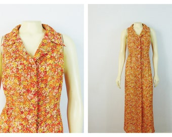 Vintage Nightgown 90s Victoria's Secret Semi Sheer Floral Full Length Nightgown (Cute with Jeans too!) Size Large