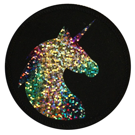 Holographic Unicorn Iron On Patch Embroidery Sewing Diy